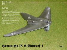 Horten Ho IX C Entwurf 1  1/72 Bird Models ResinUMbausatz / resin conversion kit