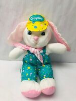 Crayola Bunny Plush Stuffed Animal Hallmark Easter Puffy Puffalump Nylon Toy