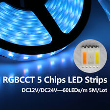 5m RGB+CCT RGBW LED Strip light 5in1 5050 SMD 96leds/m 12V/24V string tape lamp