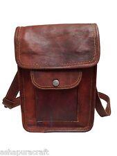 Leather satchel Vintage Leather messenger Bag Shoulder Bag for i Pad