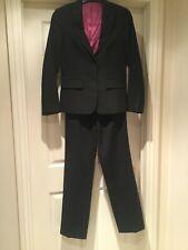 Gran elegante traje de pantalón negro, Austin Reed 10