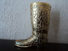 Vintage Laiton Fonte chasse/équitation/cowboy boot Desk Top Display/match safe/Titulaire