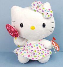 """TY Beanie Babies Hello Kitty Peluche Jouet Doux avec sucette 6"""" Avec Carte tags"""