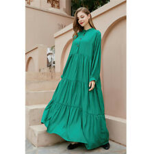 Плюс размер женский праздник свободные макси-платье с длинным рукавом весна повседневная рубашка платья