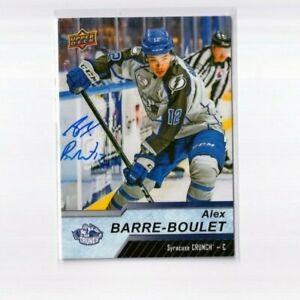 ALEX BARRE-BOULET autographed '18/19 Upper Deck AHL card TAMPA BAY LIGHTNING