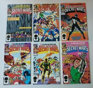 MARVEL SUPER-HEROES SECRET WARS LOT OF 6 COMICS,  #4, 5, 8, 9, 11, 12
