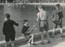 PARIS c. 1940 - Enfants Voiliers Bassin Parc des Tuileries - NV 879