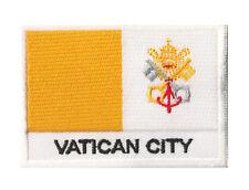 Ecusson patch brodé patche drapeau VATICAN 70 x 45 mm Etats Pontificaux