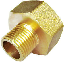 """1/2"""" Female NPT to 1/8"""" Male NPT Coupling Brass Pipe Fitting Gauge adapter N-D2"""