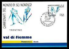 Campionato del Mondo di Sci Nordico - Cart. Filatelica Uff. Poste Italiane 2003