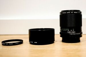 Canon nFD 100mm f2 (Great condition) MANUAL Focus