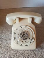 500 DM AT&T Bell System Western Electric Rotary Dial Desk Phone Beige No Cord