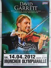 DAVID GARRETT  2012 MÜNCHEN  orig.Concert-Konzert-Tour-Poster-Plakat DIN A1