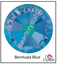 BERMUDA BLUE Swarovski 6.5mm 30ss Crystals 2028 Flatbacks Rhinestones 6 pieces