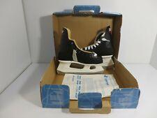 Vintage Ice Hockey Skates Black Leather Cooper A65 Women's size Uk 5 Us 7 Nos