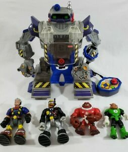 Robot Mattel Rescue Hero Power Max Ultimate Remote Lights Sounds Talk READ