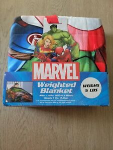 """MARVEL Avengers Weighted Blanket 5 lbs 40""""x60"""" Kid's Children Jay Franco NEW"""