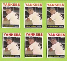 (6) Card Lot Of 1964 Topps - Elston Howard (#100)  New York Yankees  1963 AL MVP
