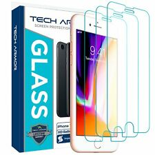 """Tech Armor Ballistic Glass Screen Protector for iPhone 7/8/6/6s 4.7"""" [3-Pack]"""