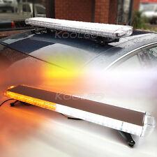 """88 LED 47"""" Emergency Strobe Light Bar Tow Truck Plow Response Strobe Amber/White"""