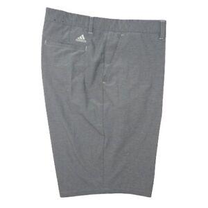 Adidas Climalite Men's 40 Gray Flat Performance Golf Shorts Tour Stretch