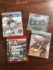 PS3 Games Bundle - Fifa 13, GTA 4, Uncharted 3, PES 2010