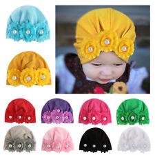 Turban Flower Toddler Children Soft Hat Baby Girls Headband Head Wrap Cotton Cap