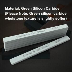 "6 x 6"" Fine Sharpening Oil Stone Green Grit 600 Silicon Carbide Whetstone"