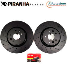 BMW M3 E30 2.3 LHD 87-90 FRONT BRAKE DISCS BLACK DIMPLED GROOVED & MINTEX PADS