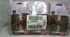 Goody Color Collection Updo Stretch Hair Clip Plastic Comb Elastic BROWN