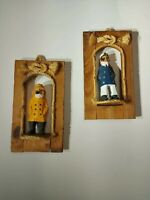 Hand Carved Sailor Crew Sea Captain Fisherman Ship Wooden Nautical Figures Hang
