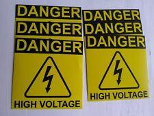 Danger High Voltage Electric Warning Building Sign Sticker Set Of 6 2x2 2