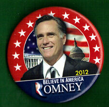 "2012 Mitt Romney 2-1/4"" / Presidential Campaign Button (Pin 04)"