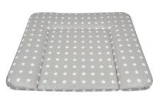 Baby Wickelauflage Mulde Supersoft 72x85 cm mit ÖkoTex Sterne grau/weiß