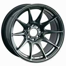 XXR 527 17x7.5 Rims 4x100/114.3 +40 Chromium Black Wheels (Set of 4)