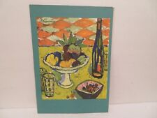 1966 Cruise Ship DINNER  Menu FRENCH LINE Paquebot FRANCE   ARTIST LIMOUSE
