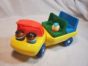 RARE Vintage Little Tikes People Toddle Tots Figures Flat Bed Bus style truck