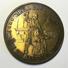 Small Business Forging The Destiny Of America Coin Medal