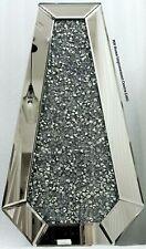 Diamond Crush Crystal Sparkly Silver Mirrored Tall Floor Vase H66cm L32cm D17cm
