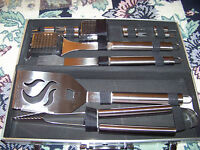 Grilling Tool Set w/case 14-Pc Cuisinart Stainless-Steel    Free USA shipping