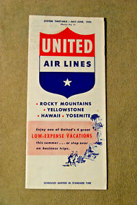 United Airlines System Timetable, May-June, 1950