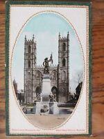 Vintage Postcard Maisonneuve Monument Notre Dame Church Montreal Embossed