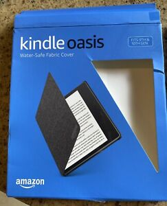 Amazon  Kindle Oasis Water-Safe Fabric Cover - Charcoal Black- Fits 9 and 10 Gen