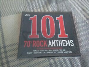 101 -  70s Rock Anthems (5CD) Various artists (2017) - New Sealed - Free UK P&P
