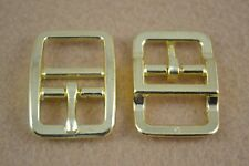 """Buckle 3/4"""" - Double Bar - Brass Plated - Pack of 12 (B109)"""