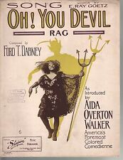 Oh You Devil Rag 1909 Aida Overton Walker Ford T Dabney Large Format