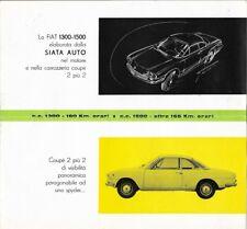 "SIATA Fiat ""Coupé"" 1300 / 1500 / 1300 S / 1500 S - 1962 - Italian sales brochure"