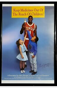 EXTREMELY RARE LARRY JOHNSON UNLV PROMOTIONAL POSTER RUNNIN REBELS NCAA FINAL 4