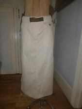 No Pattern Casual Cotton Blend Skirts Plus Size for Women