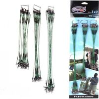 Green Traces Wires Pike Card Swivels Safety Snap Fishing Lures Hook New